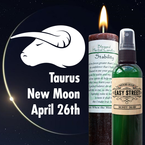 April Taurus New moon