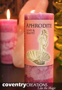 Image for New moon article Aphrodite Candle